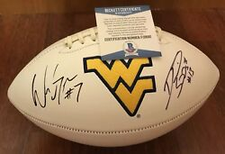 Will Grier And David Sills Signed West Virginia Mountaineers Football Beckett Coa