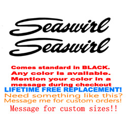 Pair Of 18 Inch Long Seaswirl Boat Hull Decals Marine Grd Your Color Choice 029