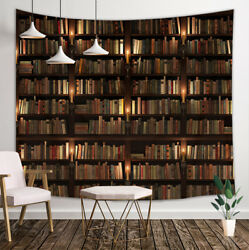 Ancient Library Bookshelf Tapestry Wall Hanging Decor for Bedroom Living Room