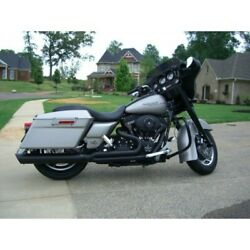 Dandd 21 Black Boss Boarzilla Straight Cut Wrapped Baffle Exhaust Harley Touring