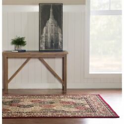 Linon Mckinley Kerman Power Loomed Polypropylene 5and039 X 7and0396 Rug In Red