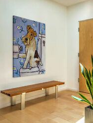 Latitude Run 'Fox Wire Terrier' Painting Print on Wrapped Canvas