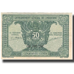 [575930] Banknote French Indo-china 50 Cents Undated 1942 Km91a Unc63