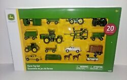 John Deere 20 Piece Farm Toy Set - Made By Tomy - New