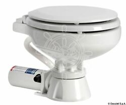 Osculati Electric Toilet W/white Lacquered Wooden Seat