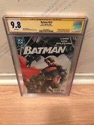 Batman 612 Cgc 9.8 Signed By Jim Lee Iconic Cover