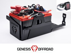 Genesis Offroad Dual Battery Kit W/ Isolator Monitor For 18-21 Jeep Wrangler Jl