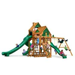 NEW Gorilla Playsets Great Skye II Treehouse with Amber Posts Swing Set