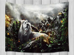 Animal Blanket Lions Lying In Woods Tapestry Wall Hanging Bedroom Home Pendant
