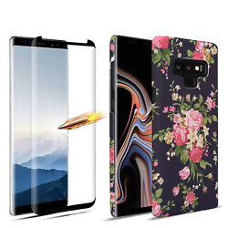 Women#x27;s Flower Case Semi Soft for Samsung Galaxy Note 9 8 Glowing in the Dark $8.54