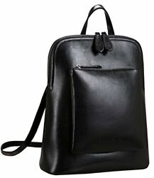 Heshe Women's Vintage Leather Backpack Casual Daypack for Ladies and Girls (B...