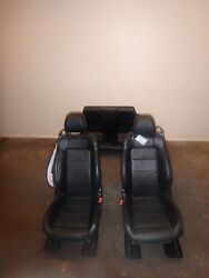 2015-2020 Ford Mustang Black Leather Front And Rear Seats Driver Power Passenger