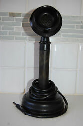 VINTAGE CANDLESTICK SWITCHBOARD POLICE DISPATCH TELEPHONE BLACK WITH CORD1908