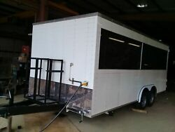 Used 2018 8.5' x 20' BBQ and SeaFood Concession Trailer w Smoker for Sale in Lo