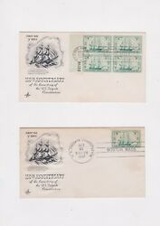 U. S. S. FRIGATE CONSTITUTION NAVAL SHIP 150TH ANNIVERSARY COVER LOT 1947