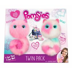 Pomsies Twin Pack Plush Interactive Toys Colors May Vary