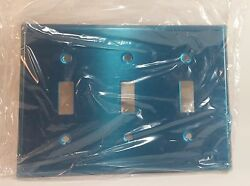 LEVITON 84011 Decorative Silver 3 Gang Toggle Switch Cover Wall Plate LOT OF 10