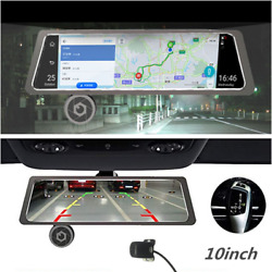 10in Touch Screen FHD Dual Lens 4G WiFi Android 5.1 Car Rearview Mirror Dash Cam
