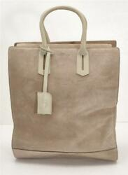 Byredo Maya Tall Light Taupe Suede Bag Multi-compartment Tote Satchel New