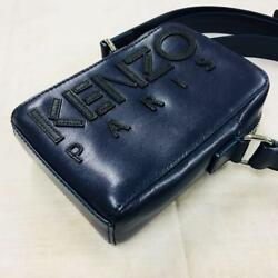 KENZO PARIS SHOULDER BAG MINI SMALL PHONE CASE PURSE NEW NAVY BLUE WOMEN MEN FS