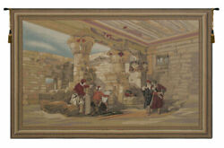 Temple Of Ptolemy Iv Soft Vintage European Tapestry Wall Art Hanging 26x40 Inch