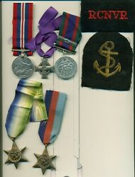 Canada Wwii Mem Cross And Group Of 4 To R.c.n. V-23158 Lg Smn William Laurie