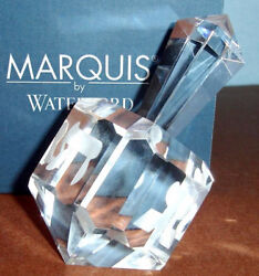 Waterford Marquis Crystal Dreidel Frosted Letters Hanukkah Collection 108274 New