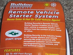 NEW SEALED BULLDOG SECURITY REMOTE VEHICLE CAR STARTER SYSTEM RS82B UNOPENED