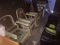 Emil J Paidar Company Antique Barber Chairs 4 Total