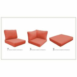 High Back Cushion Set For Barbados-17a In Tangerine