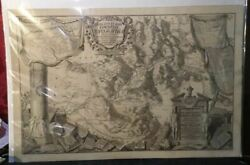Vintage Antique Engraved Topographical Map Sabina Roma By Petroschi