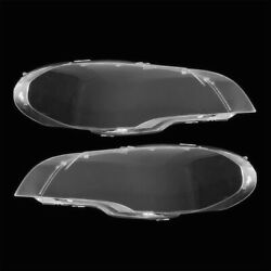 Clear Headlight Headlamp Lens Plastic Cover Fit For 08-13 BMW X5 E70 Left+Right