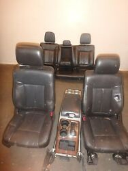 2009-2014 Ford F150 Front/rear Black Leather Power/heated/cooled Seats W/console