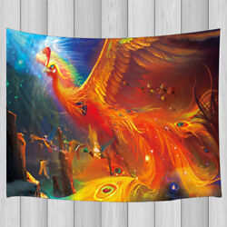 Fantasy Fire Phoenix Tapestry Wall Hanging Decor for Bedroom Living Room Dorm