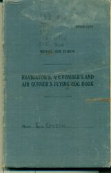 Gr Bt Wwii Raf Logbook To Aci L Green 149 Squad Who Flew In Action
