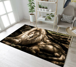 Sunlight King Lion Lying on the Ground Area Rugs Bedroom Living Room Floor Mat