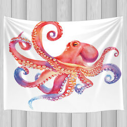 Creative Pink Octopus Tapestry Wall Hanging Decor for Bedroom Living Room Dorm