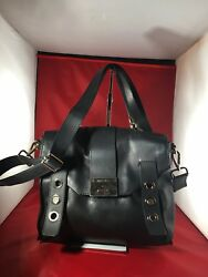 Jimmy Choo Messanger cross body Detachable Strap hand bag Black Great Condition.