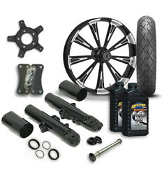 Rc 21 Raider Wheel Tire And Complete Eclipse Front End Package Harley 14-19 Flh