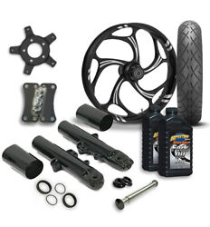 Rc 21 Torsion Wheel Tire And Complete Eclipse Front End Package Harley 14-19 Flh