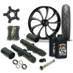 Rc 21 Revolt Wheel Tire And Complete Eclipse Front End Package Harley 14-19 Flh