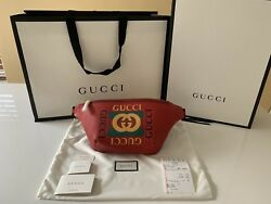 Gucci Retro GG Logo Belt Bag Red Large (36in90cm)