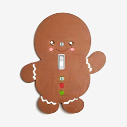 Gingerbread Boy light switch plate cover Christmas wall decor