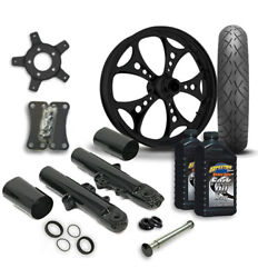 Rc 21 Holeshot Wheel Tire And Complete Black Front End Package Harley 14-19 Flh