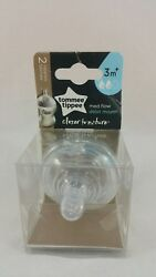 Tommee Tippee Closer To Nature Nipple 2 Count Medium Flow New 3M