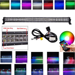 42inch Led Work Light Bar With Rgb Halo Ring Chasing Music Wireless Bluetooth