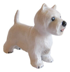 Miniature Porcelain West Highland Terrier or  Westie Dog Figurine