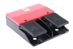 606 Series Emergency Stop Foot Switch without Cover 2 Pedal Momentary Contacts