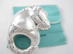 And Co Rare Sterling Silver Horse Adorable Baby Rattle
