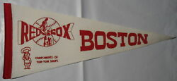 BOSTON RED SOX VINTAGE PENNANT FROM 1960 1970#x27;S 18quot; x 8quot; NICE CONDITION